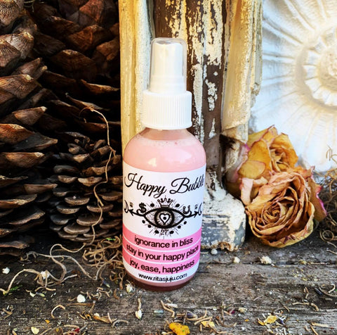 Rita's My Happy Bubble Spiritual Mist Spray  Ignorance is Bliss, Stay in Your Own Happy Place
