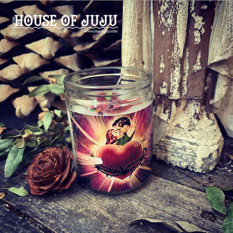 Rita's Lover Keep Me in Your Heart Ritual Altar 3 Day Hoodoo Ritual Candle - Make sure You are On Your Lovers Mind Always