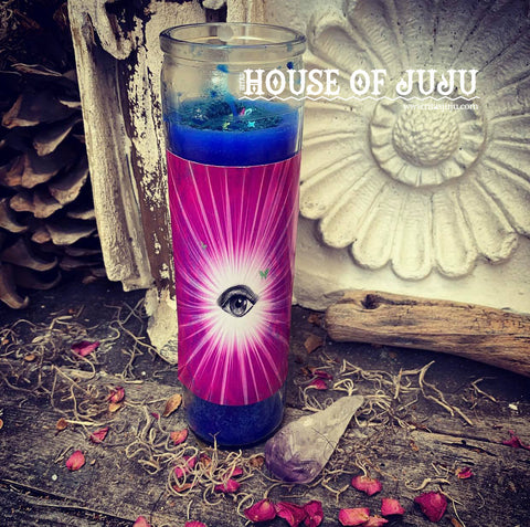 Rita's Intuitive Insight 7 Day Ritual Altar Candle - Psychic Awareness, Sharpen Your Insight & Instincts