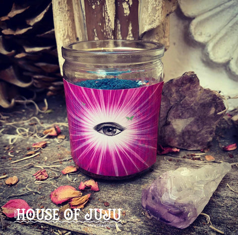 Rita's Intuitive Insight 2 Day Ritual Altar Candle - Psychic Awareness, Sharpen Your Insight & Instincts