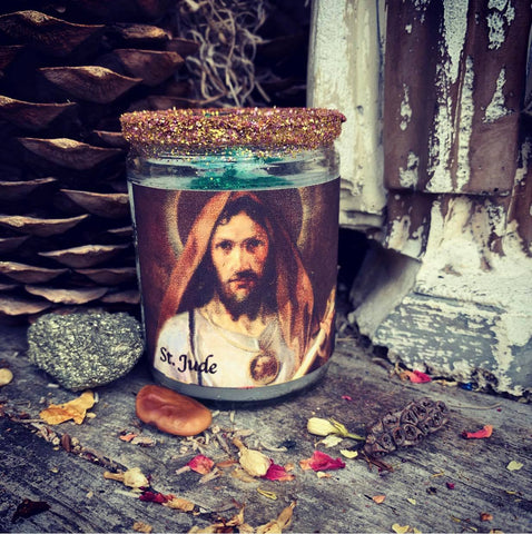 Rita's Saint Jude Ritual Hoodoo 2 Day Candle Don't Quit, When All Else Fails Call Upon St. Jude