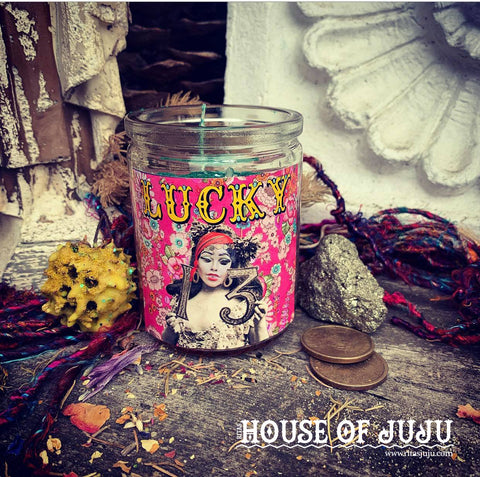 Rita's Lucky 13 Hoodoo Ritual 2 Day Candle, Manifestation, Angel Guidance, Positive Thinking, Good Luck, Love