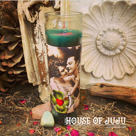 Rita's Get Lucky in Love 7 Day Hoodoo Ritual Candle - Enhance Your Streak of Luck in Love, Find Your Mate