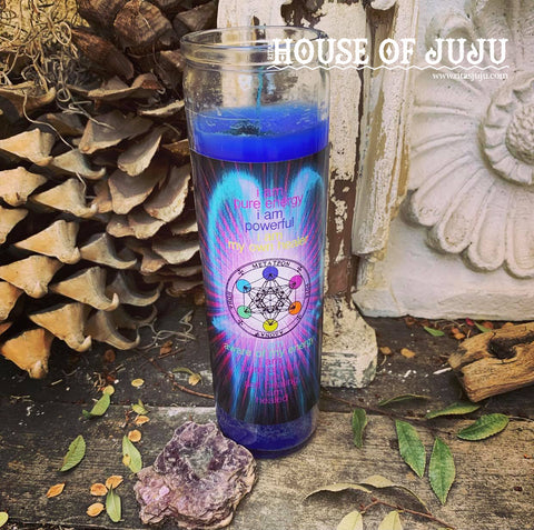 Rita's Archangel Metatron 7 Day Hoodoo Ritual Candle - Great Spirit, Positive Energy, Change Thought Patterns