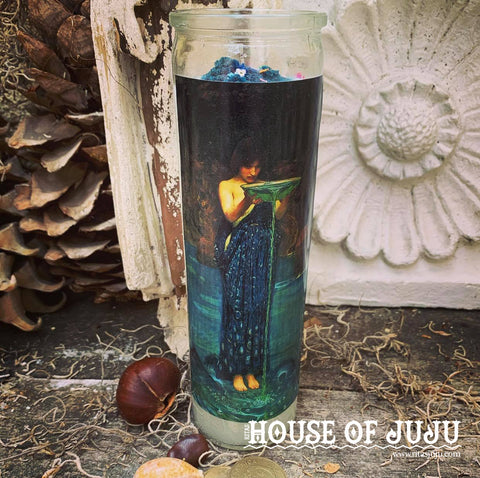 Rita's Offering Hoodoo 7 Day Ritual Candle to Thank the Higher Powers for Their Help