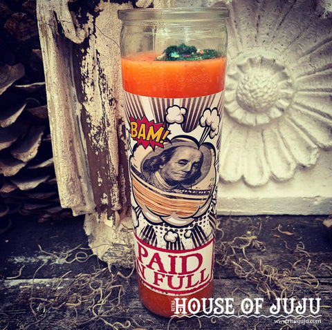 Rita's Paid in Full 7 Day Hoodoo Ritual Candle - Hustle Your Way Through Debt, Focus, Manifest, Pay Bills in Full, Financial Freedom
