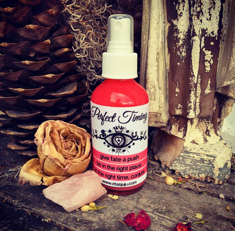 Rita's Perfect Timing Spiritual Mist Spray - Give Fate a Push, Right Time Right Place, Manifest