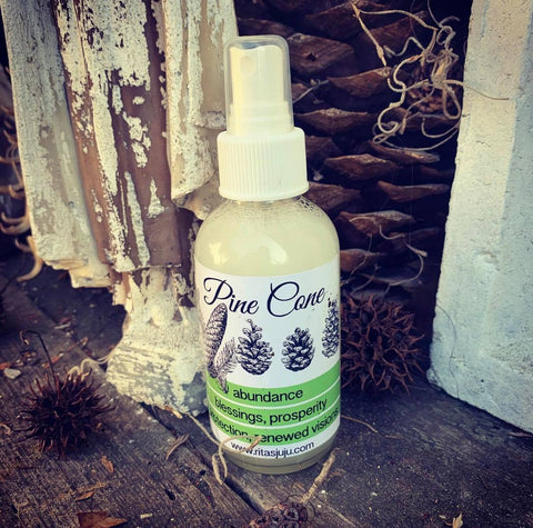 Rita's Pine Cone Spiritual Mist Spray for Abundance, Blessings, Protection, Rebirth
