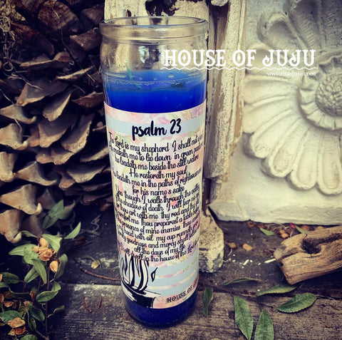 Rita's Psalm 23 7 Day Hoodoo Ritual Candle - Blessings, Dreams Come True, Good Luck, Protection, Enhance ANY Ritual
