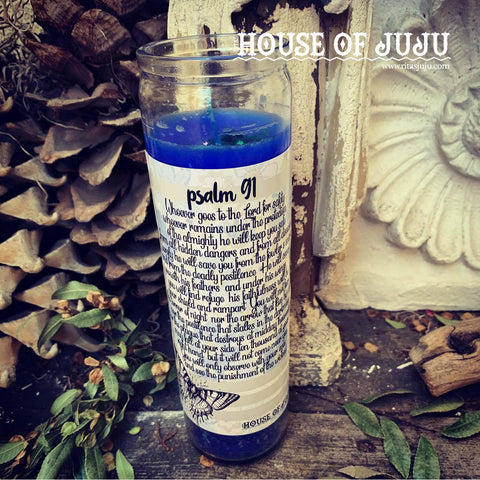 Rita's Psalm 91 7 Day Hoodoo Ritual Candle - Keep You Safe from Disease, Illness, Unfortunate Accidents, Protect Your Health