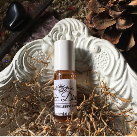 Rita's Psychic Divorce Hand Brewed Ritual Oil to Rid of People, Thoughts or Situations Consuming Your Thoughts