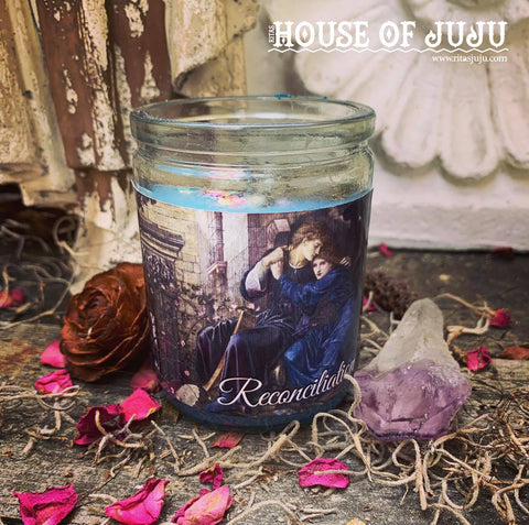 Rita's Reconciliation 2 Day Tall Hoodoo Ritual Candle - Heal Relationships, Forgiveness, Come Together Again