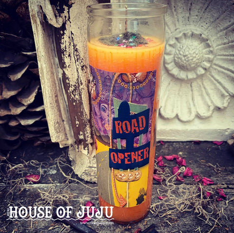 Rita's Road Opener 7 Day Hoodoo Ritual Candle - Clear Your Pathway to a Bright Future, Open Doors, Invite Blessings
