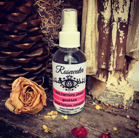 Rita's Rosewater Aura Cleansing Spiritual Mist Spray, Love, Cleanse, Rid Negativity, Calming