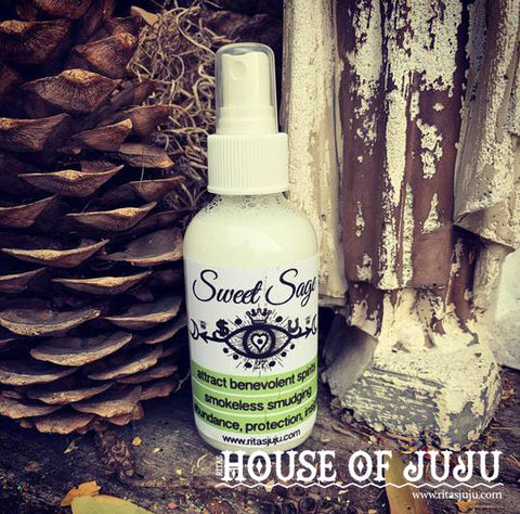 Rita's Sweet Sage Spiritual Mist Spray to Access Your Innate Wisdom, Divination, Abundance, Protection