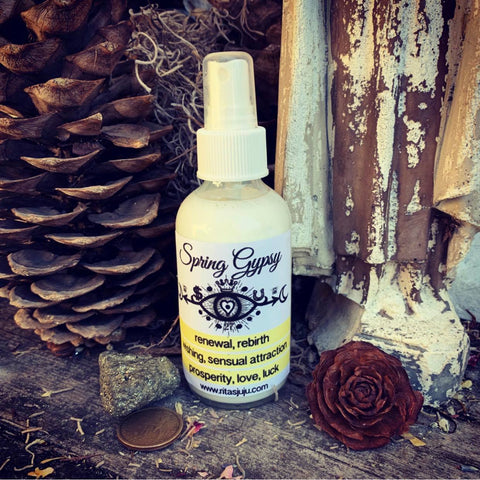 Rita's Spring Gypsy Spiritual Mist Spray - Sensuous Attraction, Love, Luck, Wishes, High Spiritual Vibration