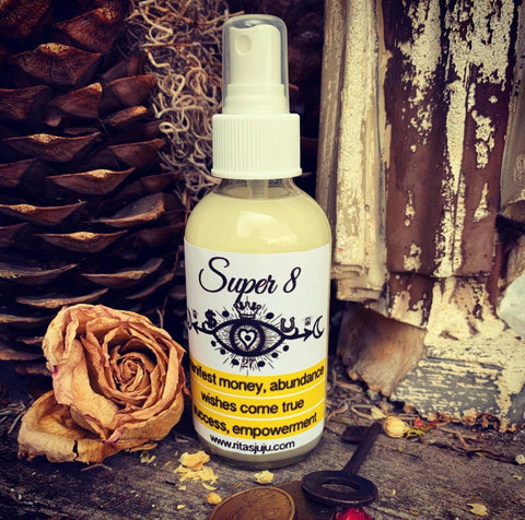Rita's Super 8 Spiritual Mist Spray - Money, Abundance, Success, Wishes Come True, Prosperity, Rule Things, Manifest