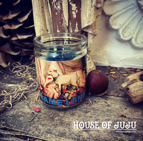 Rita's Tame Lamb 3 Day Hoodoo Ritual Candle - Overcome Enemies, Bring People to Your Feet, Keep Your Lover Home