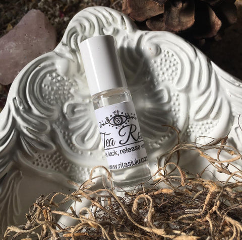 Rita's Tea Rose Hoodoo Ritual Oil to Release Troubles, Luv, Luck, Attract Good Spirits