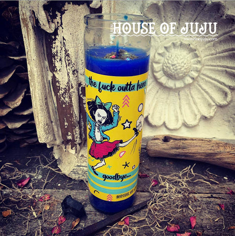 Rita's The Fuck Outta Here Ritual 7 Day Hoodoo Candle - Remove Nonsense, Remove People from Your immediate Presence, Stop BS