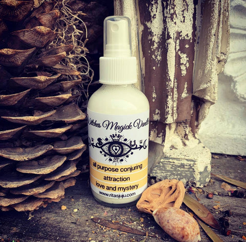 Rita's Witches Magick Vanille Spiritual Mist Spray - All Purpose Conjuring, Attraction, Luv, Mystery