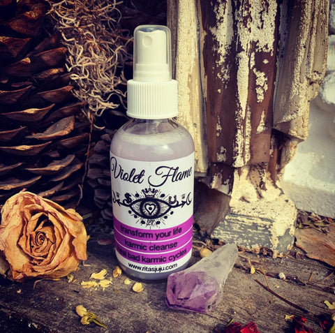 Rita's Violet Flame Spiritual Mist Spray to Help You Heal Karmic Debt