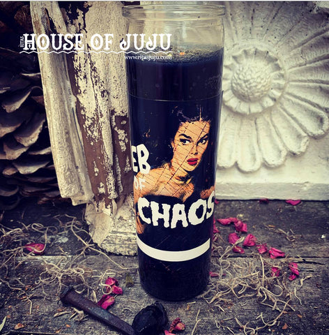 Rita's Web of Chaos Hoodoo 7 Day Ritual Candle - Create Confusion for Your Enemies, Catch Liars in Lies, Block Hexes