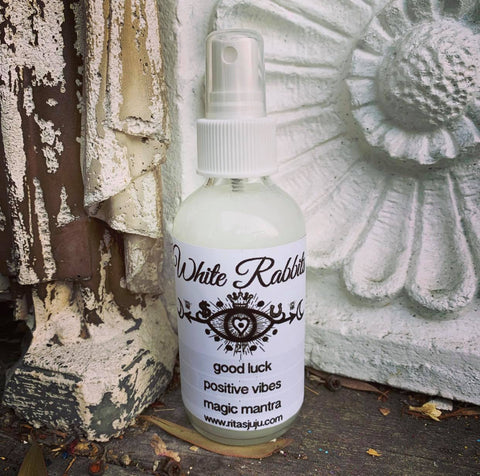 Rita's White Rabbits Spiritual Mist Spray for Good Luck Ritual for the First of Every Month