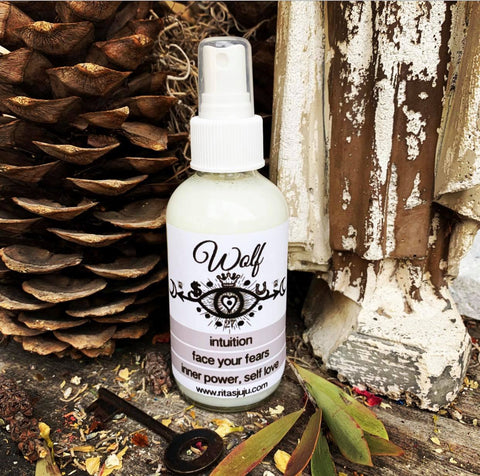 Rita's Wolf Spiritual Mist Totem Spray for Intuition, Face Darkest Fears, Find Inner Power, Luv Yourself