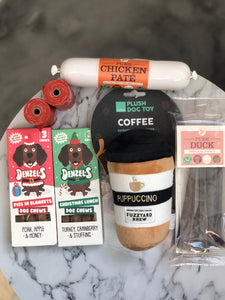 Gift Set Three - Adios, Denzels, Puppuccino Toy, JR Pate & Pure Sticks