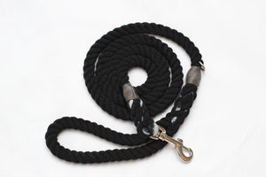 Black rope lead