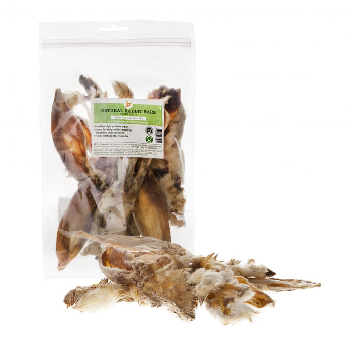 JR Pet Products - Rabbit Ears With Hair - 100g