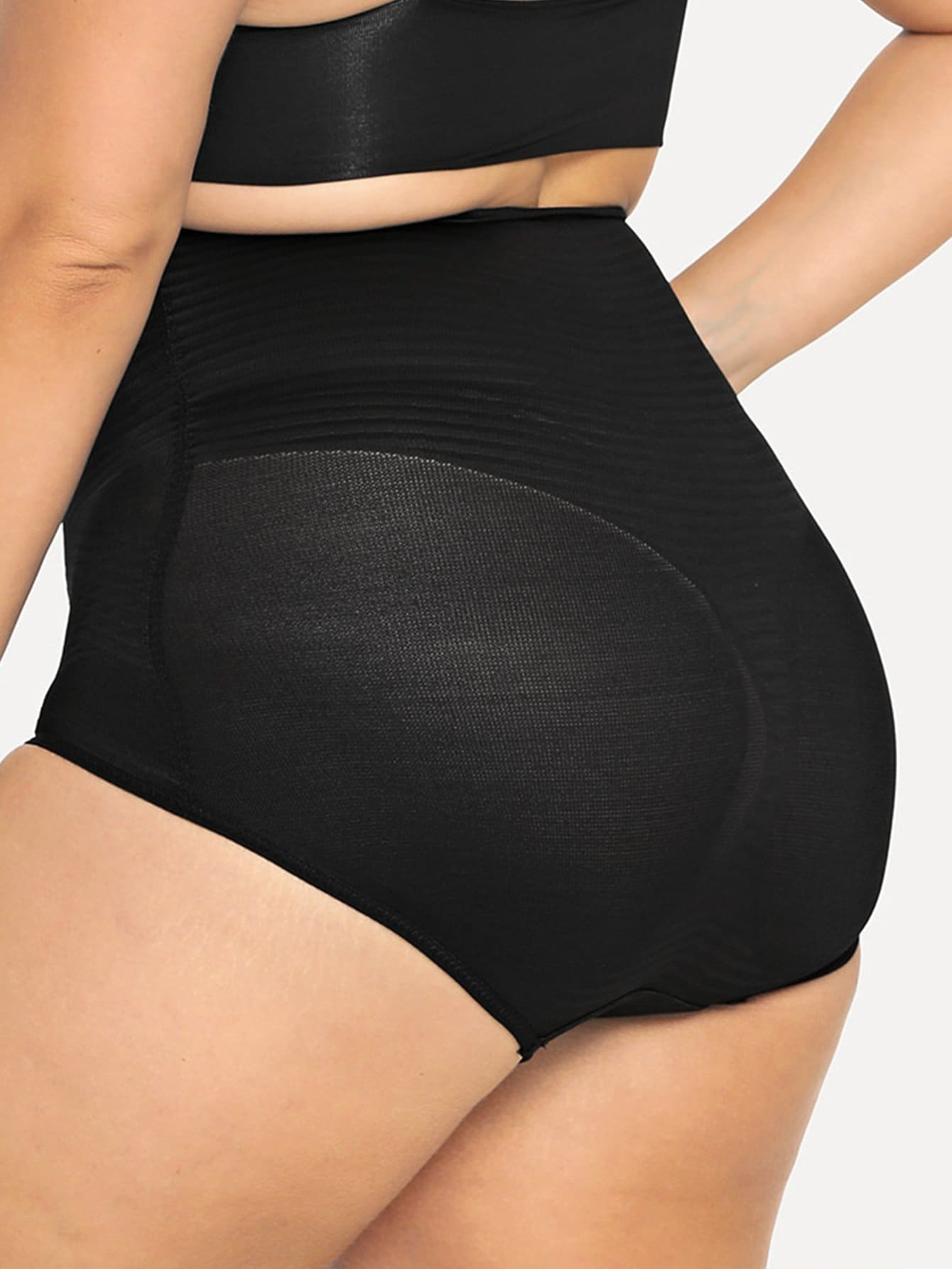 Queen Size Black High waist shapewear panty