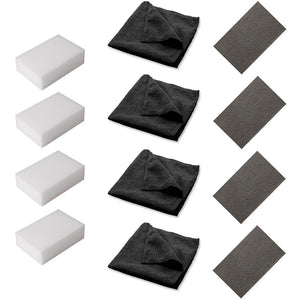 Surface Cleaning Supply Kit With Cloths, Sponges and Scrubbing Pads (12-Pack, 4/Each Item)
