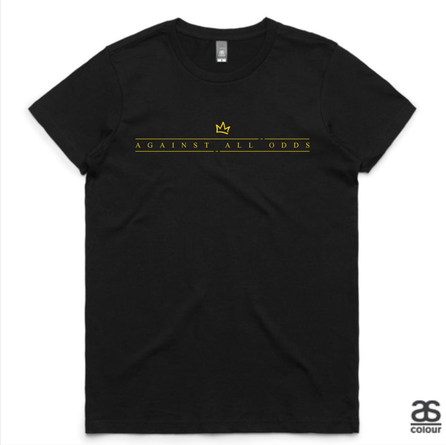 Against All Odds #01 Ladies Tee (GOLD Print)