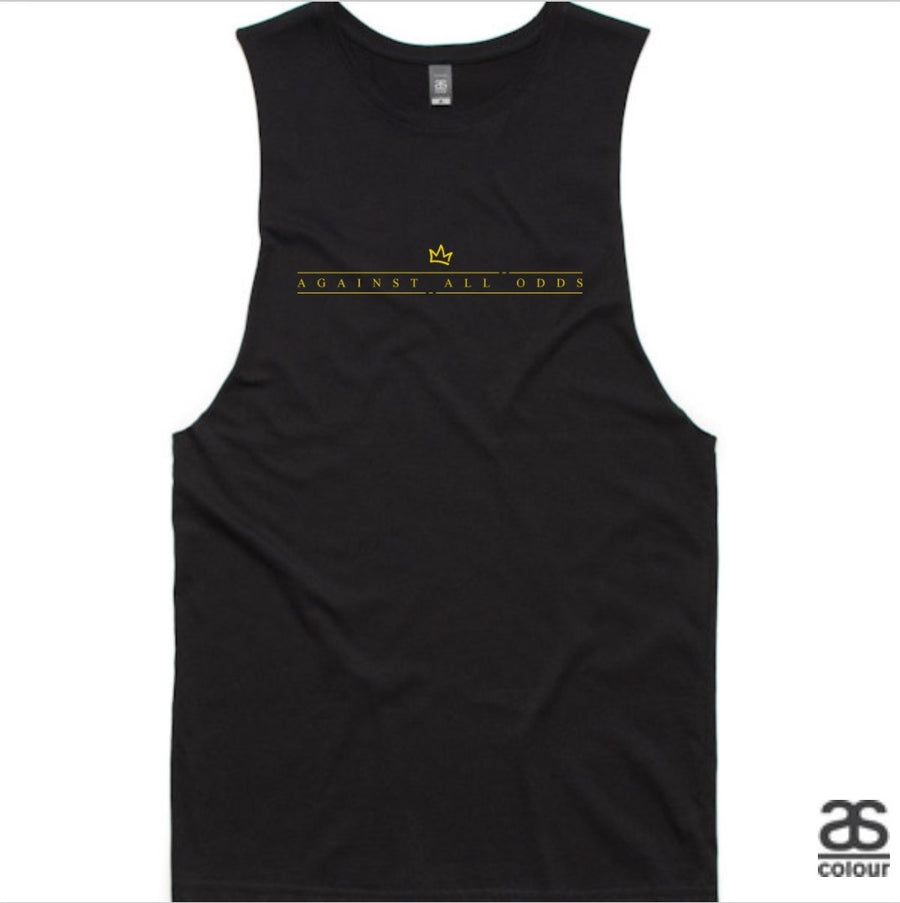 Against All Odds #01 Mens Tank (GOLD Print)