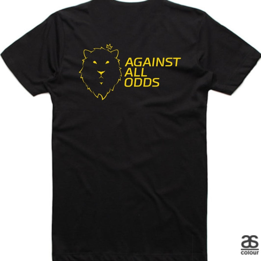 Against All Odds #02 Mens Tees (GOLD Print)