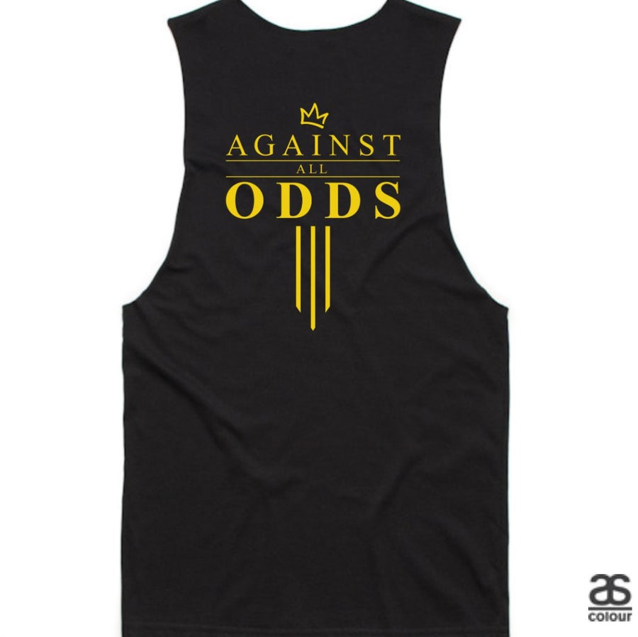 Against All Odds #03 Mens Tank (GOLD Print)