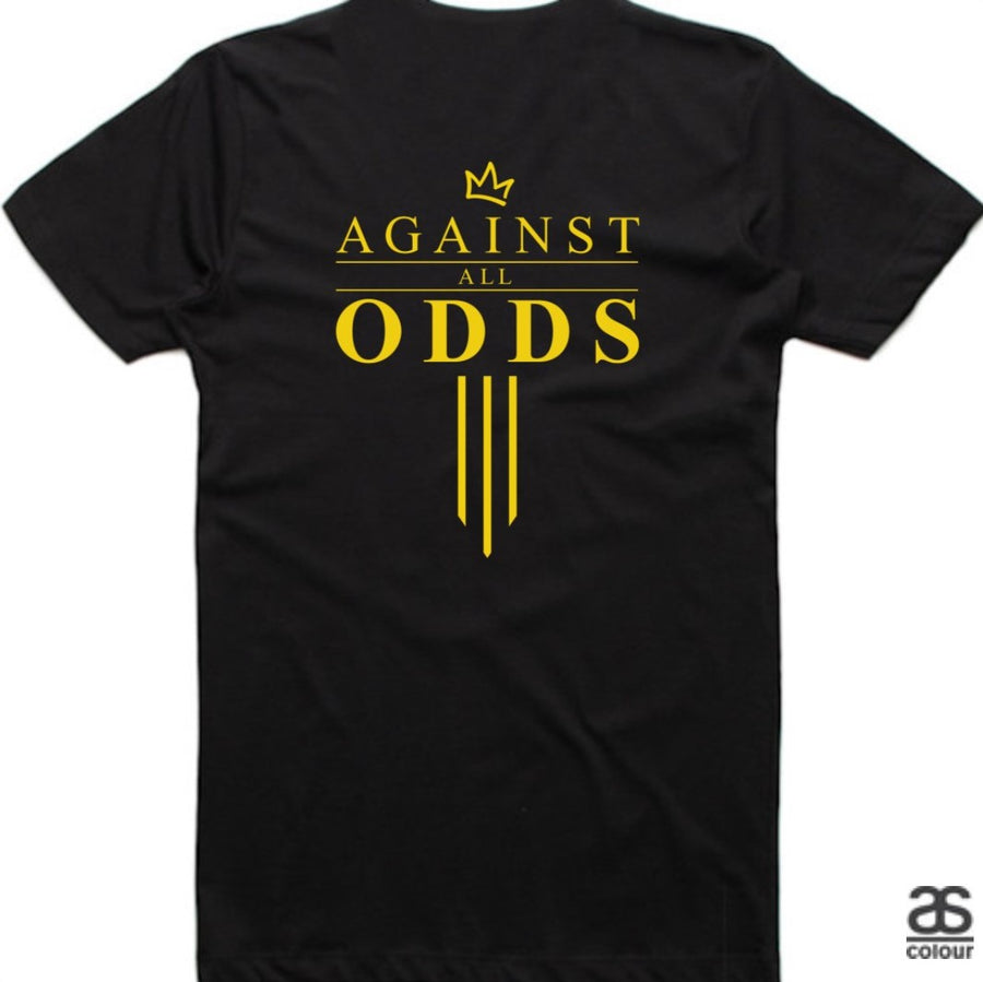 Against All Odds #03 Mens Tees (GOLD Print)