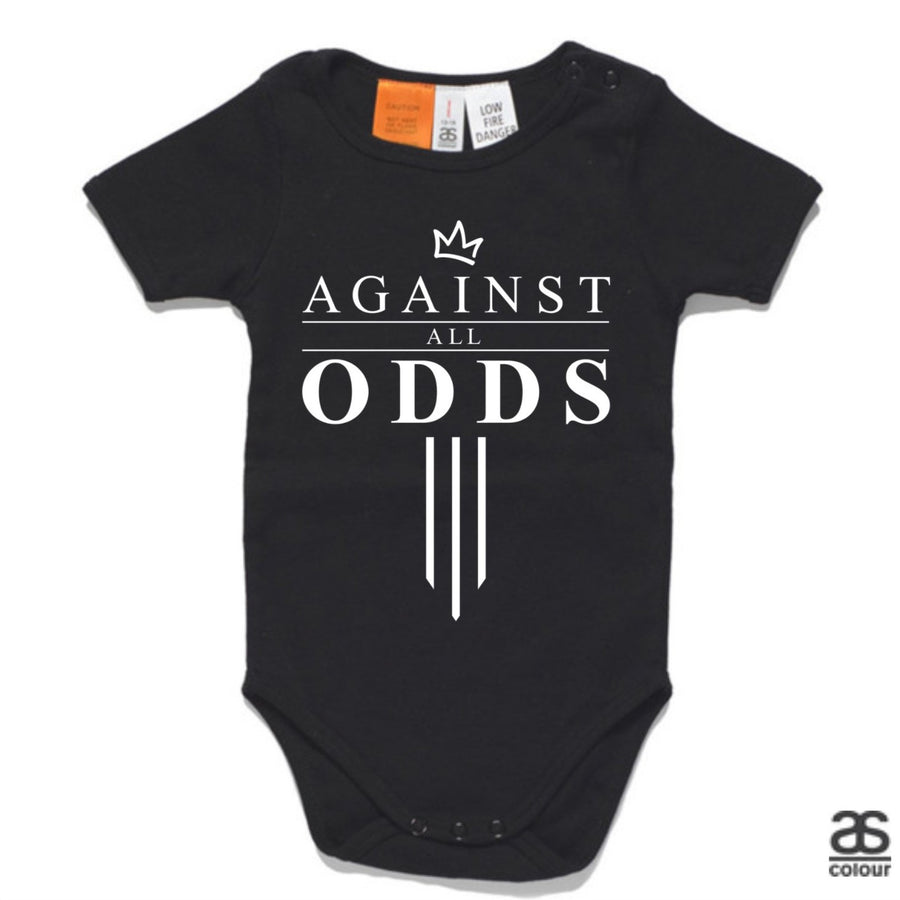 Against All Odds #03 Baby Onesie (B&W Print)