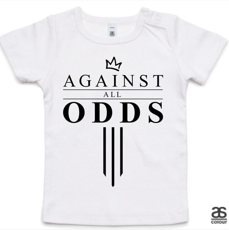 Against All Odds #03 Toddler Tee (B&W Print)