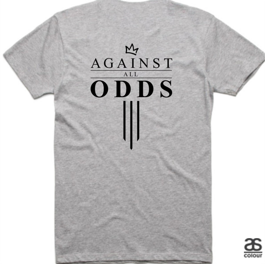 Against All Odds #03 Mens Tees (B&W Print)