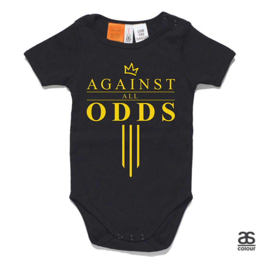 Against All Odds #03 Baby Onesie (GOLD Print)