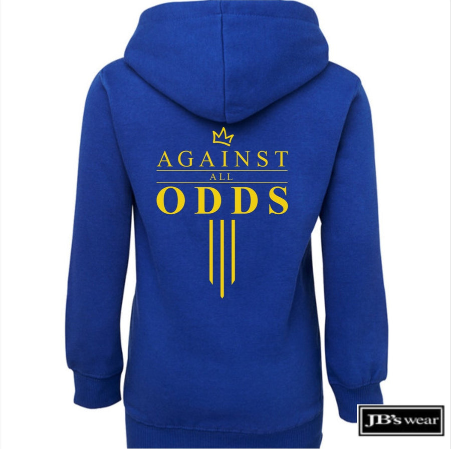 Against All Odds #03 Youth Hoodie (GOLD Print)