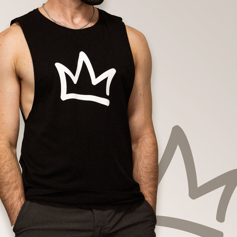 XK Crown - Mens Black Tank