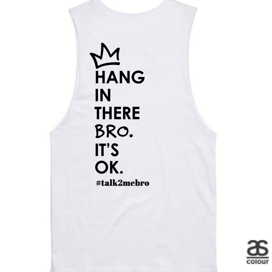 #T2MB Hang In There - Mens White Tank