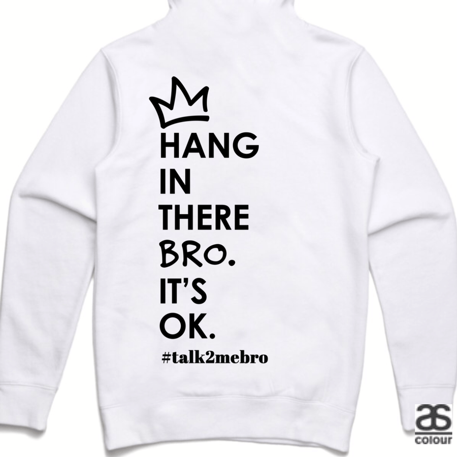 #T2MB Hang In There - Unisex White Hoodie