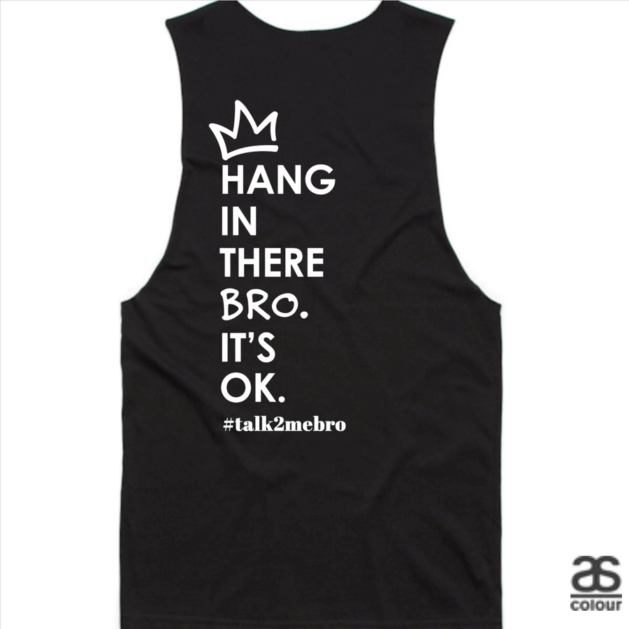 #T2MB Hang In There - Mens Black Tank