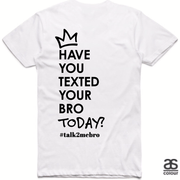 #T2MB Texted Today? - Mens White Tee