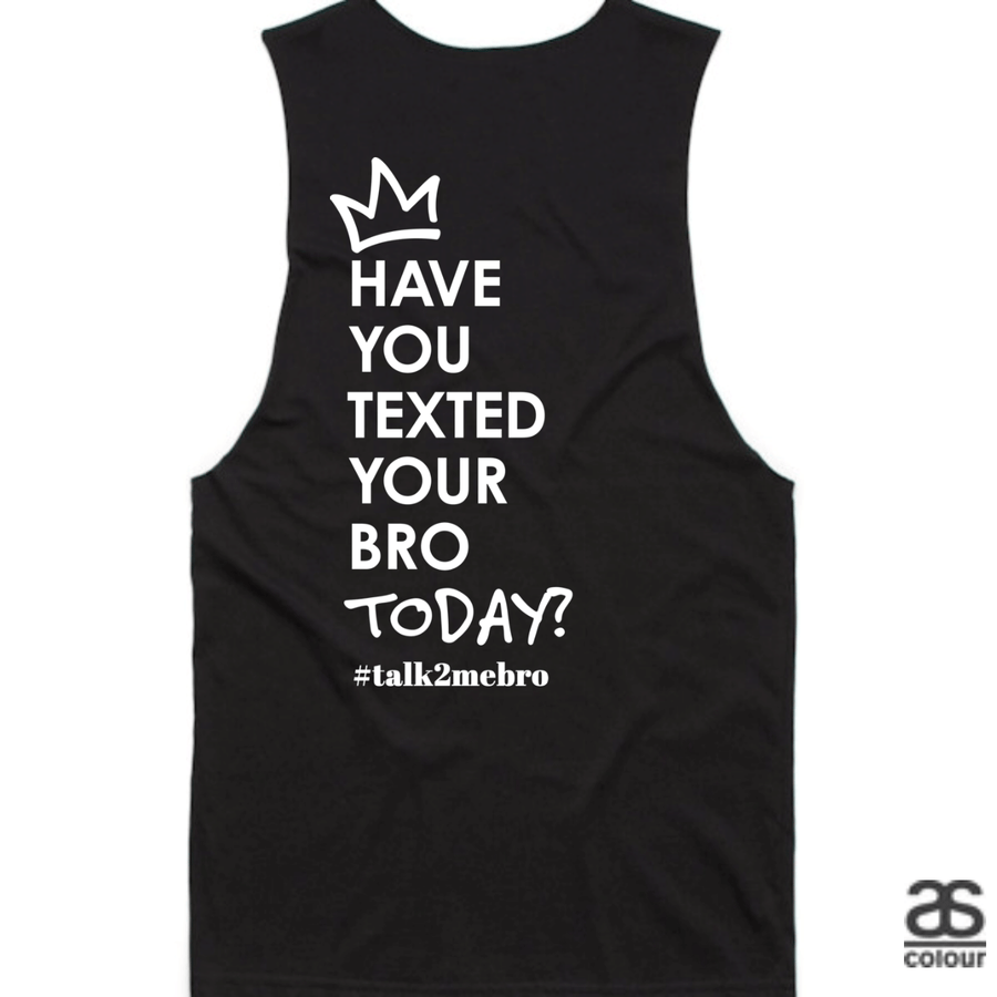 #T2MB Texted Today? - Mens Black Tank